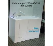 Cada baie dizabilitati stanga 120x66x95 cm