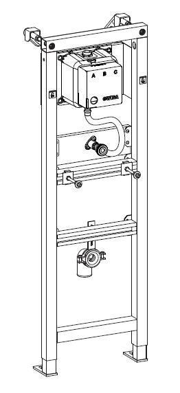 Suport pisoar cu sistem  manual de spalare Wisa XS