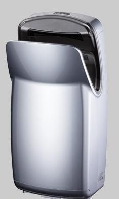 Uscator maini vertical,  ABS, argintiu, AIR-WOLF