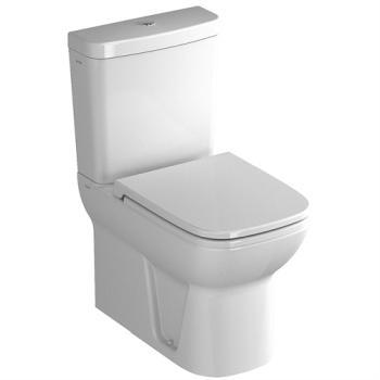 Vas WC 62x36 cm pe pardoseala, cu rezervor pe vas, iesire universala S20