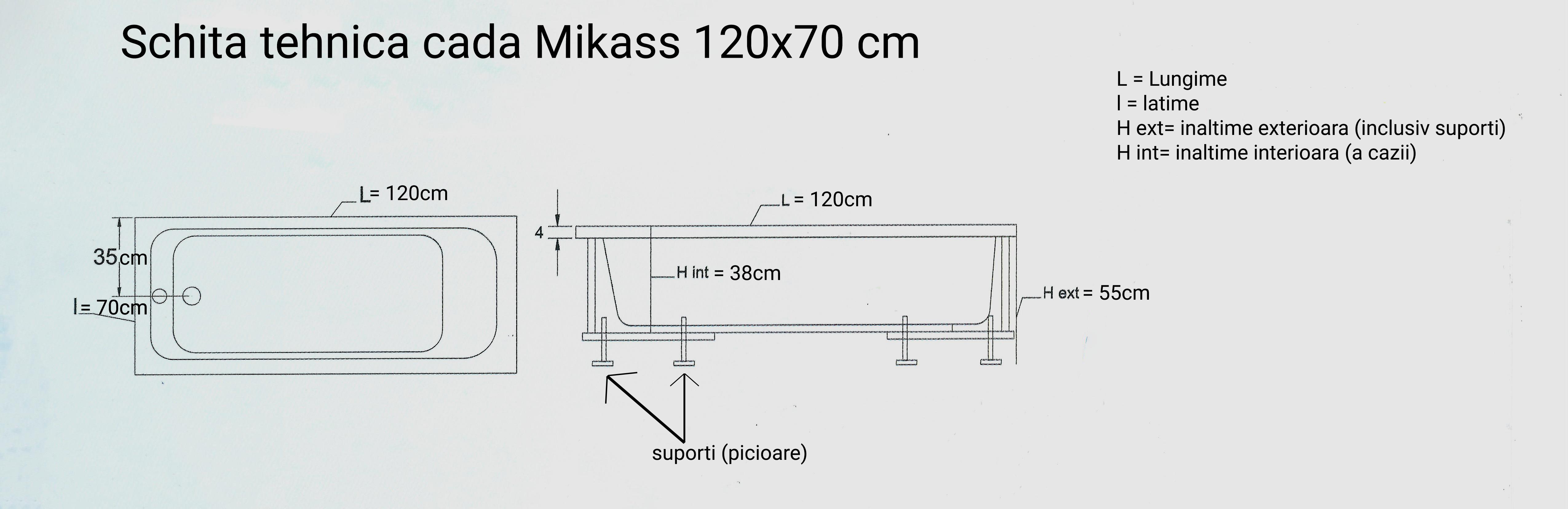 schita tehnica cada 120 70 cm mikass