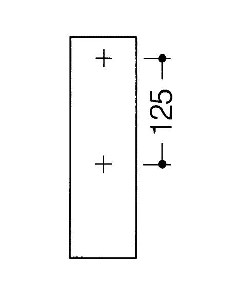 Bara rabatabila vertical sprijin lateral cu 2 butoane de actionare-big