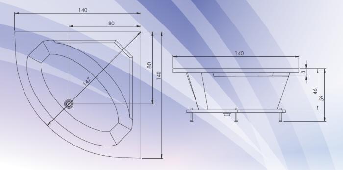 Cada colt simetrica 140x140 cm Fiji-big