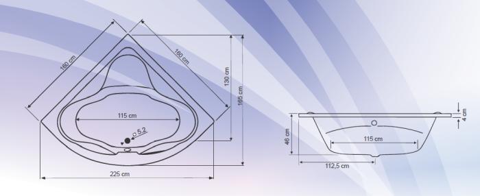 Cada colt simetrica 160x160 cm Massimo-big