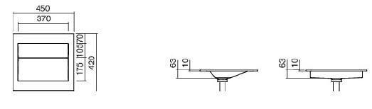 Lavoar 450x420 mm ingropat Alape-big