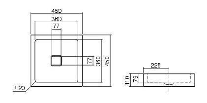 Lavoar 450x450 mm Alape-big