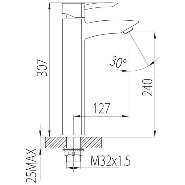Baterie lavoar inalta BTM2L Modena-big