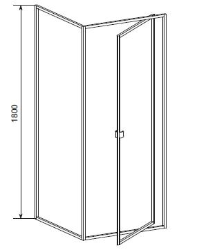 Cabina dus 80x80 cm, usa pivotanta, sticla securizata Elba-big