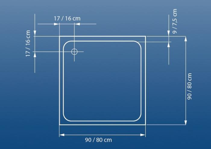 Cadita dus 80x80 cm Venus-big