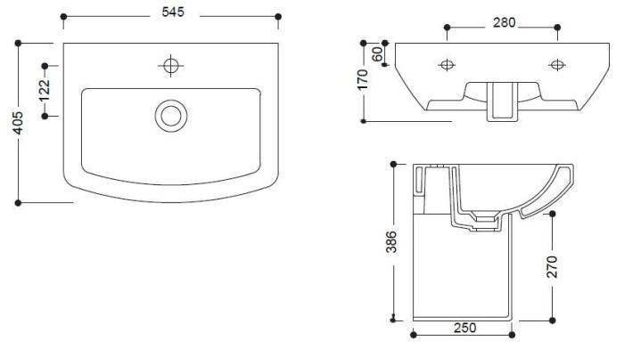 Lavoar 545 x 405 mm Jade GV210 Sanotechnik-big
