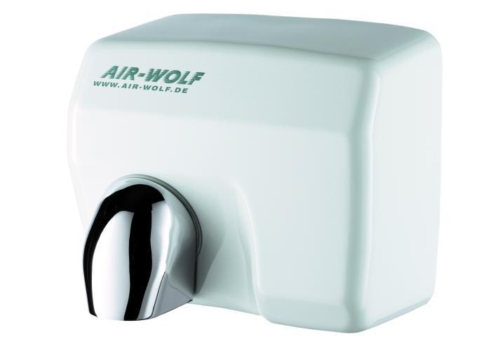 Uscator maini cu senzor, inox, alb, AIR-WOLF-big